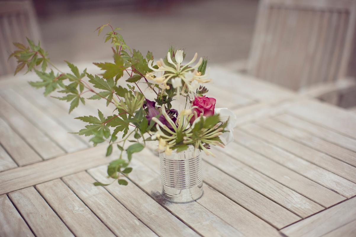 Garden Wedding Table Flowers