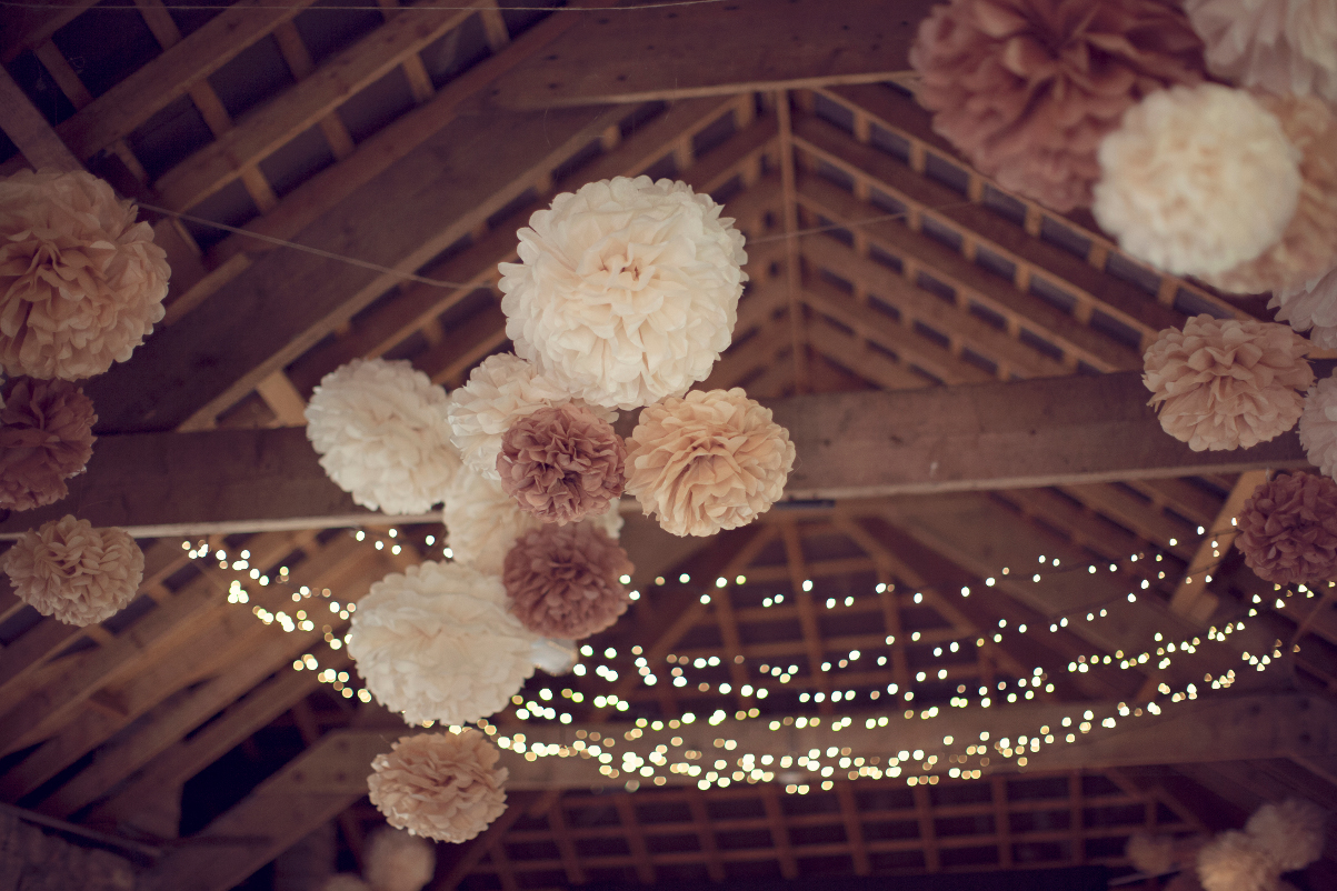 wedding pompoms