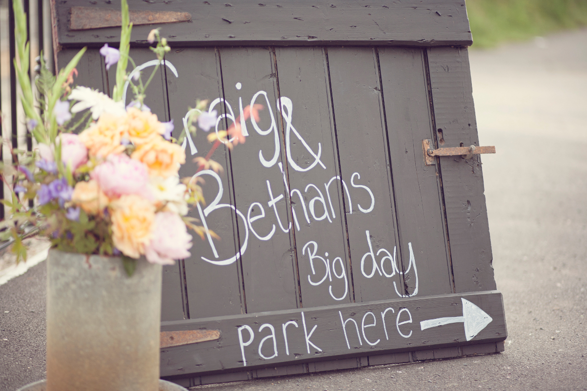 Craig and Bethan Wedding Sign